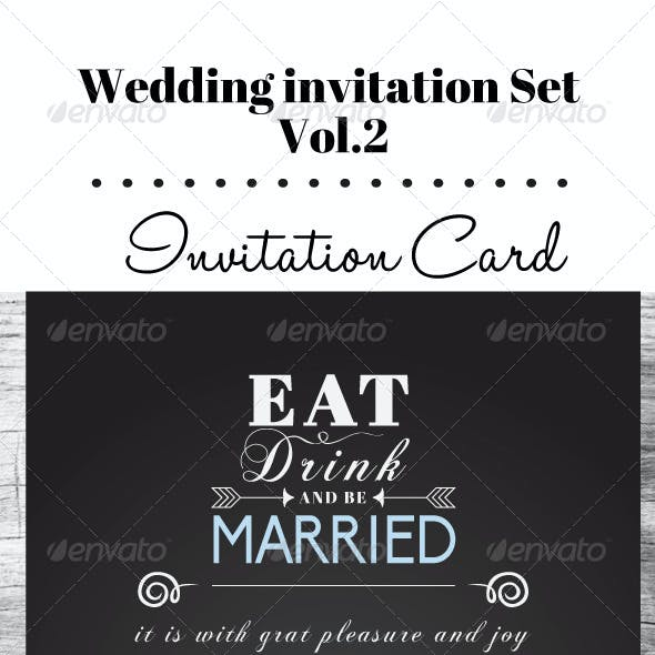 Wedding Invitation Set Vol. 02