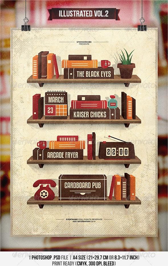 Illustrated Vol.2 - Flyer & Poster - Concerts Events