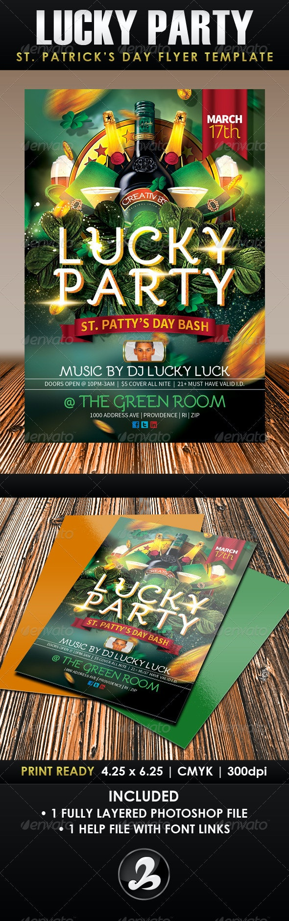 Lucky Party St. Patrick's Day Flyer Template - Holidays Events