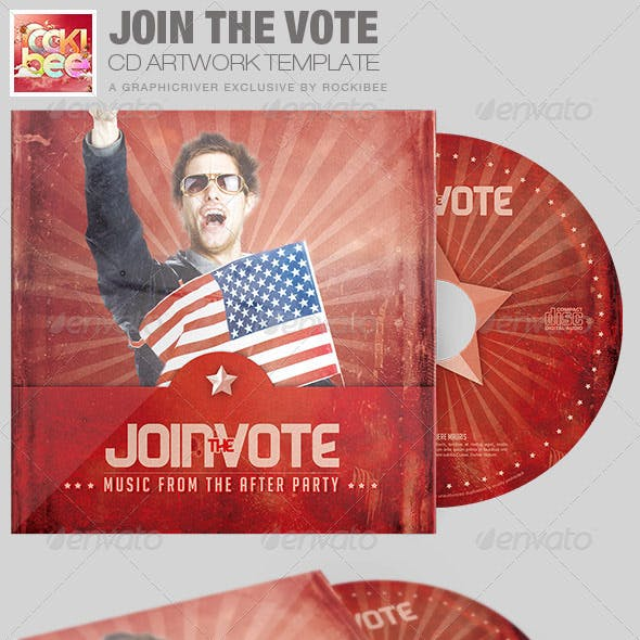 Join the Vote CD Artwork Template