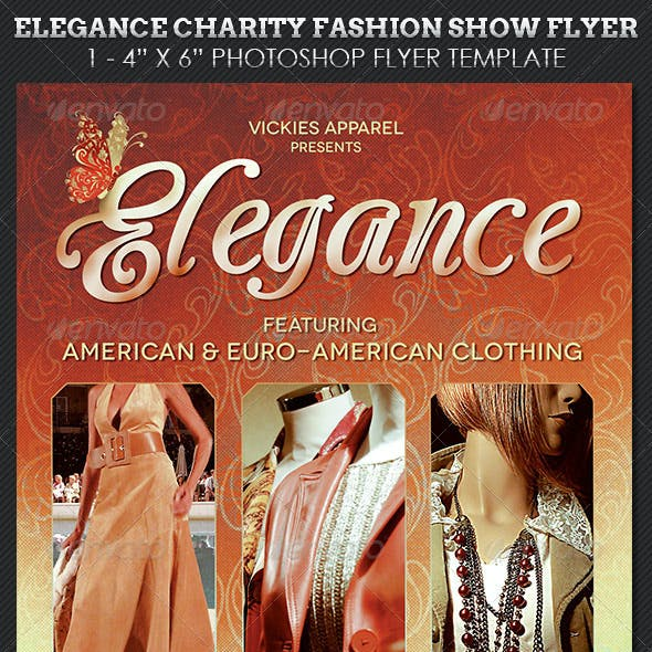 Elegance Charity Fashion Show Flyer Template