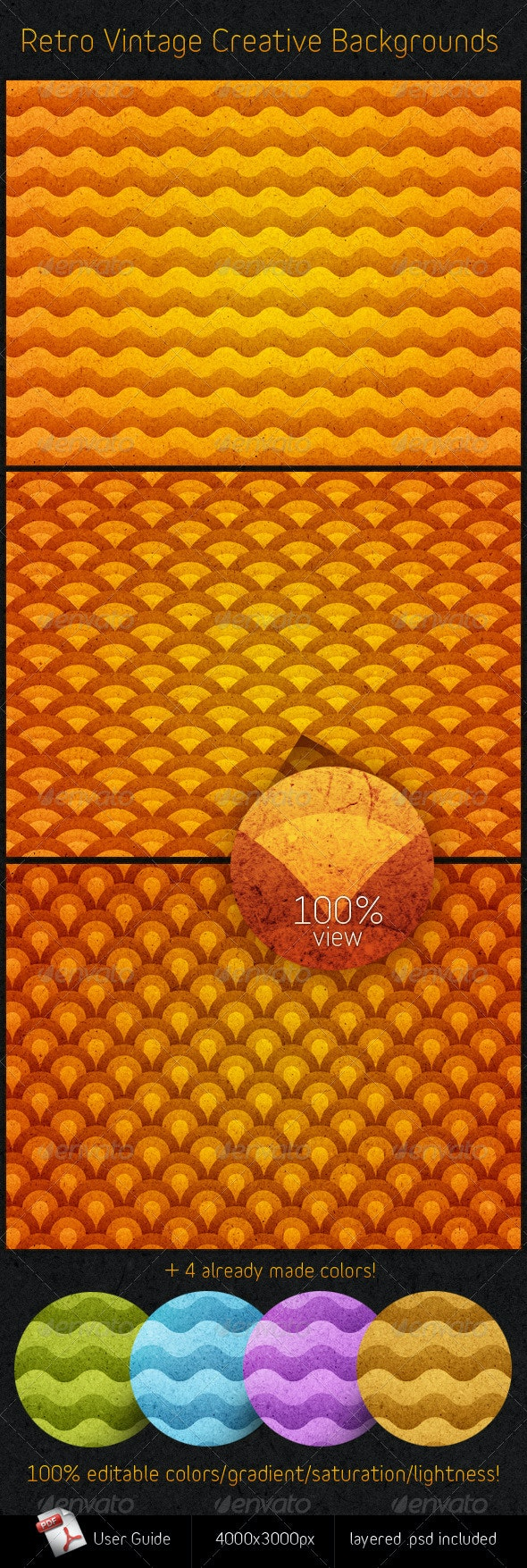 Retro Vintage Creative Backgrounds - Miscellaneous Textures