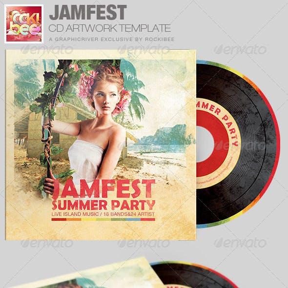 Jamfest Summer Party CD Artwork Template