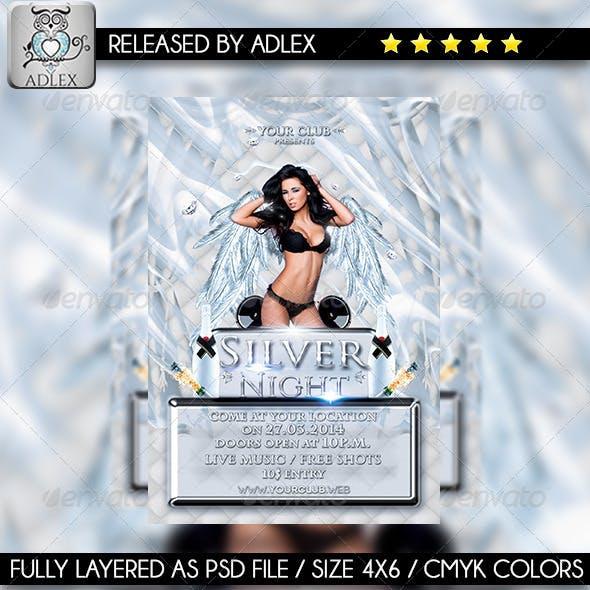 Silver Night-Elegant Party Flyer