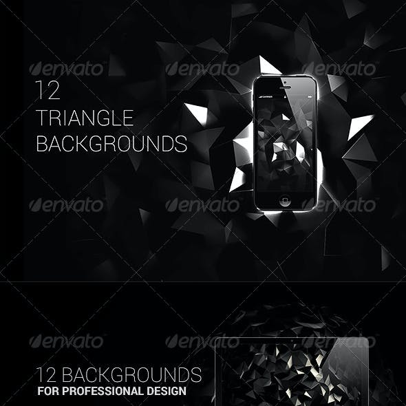 3D Polygon Backgrounds - Abstract Set