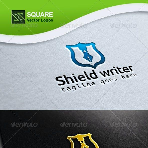 Shield, Pen Vector Logo Template