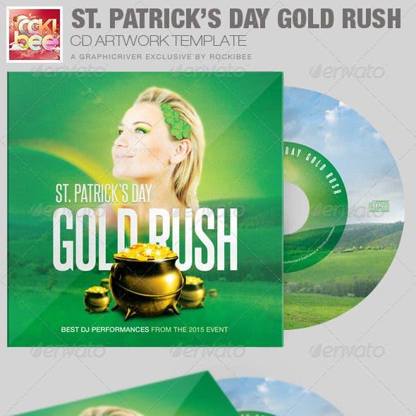 Saint Patrick's Day Gold Rush CD Artwork Template