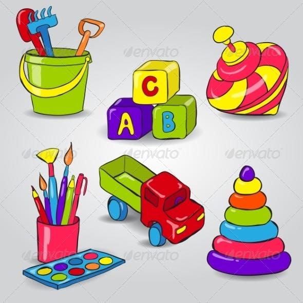 Set of Childrens Toys