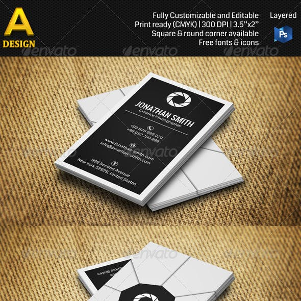Photographer Business Card AN0262