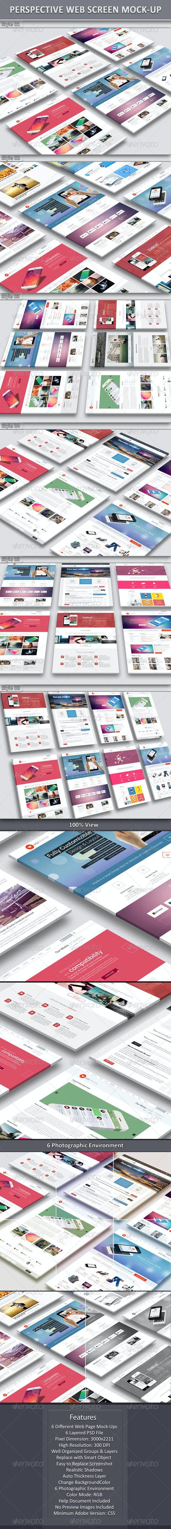 Perspective Website Mock-Up 01 - Website Displays