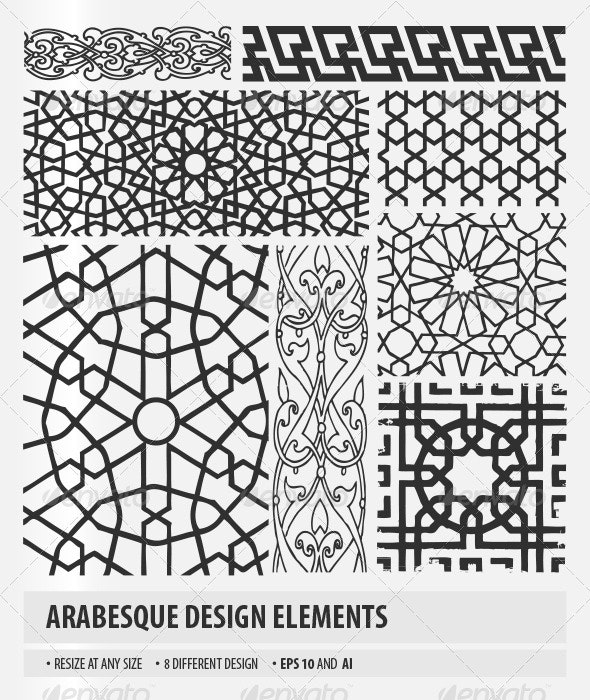 Arabesque Design Elements - Patterns Decorative