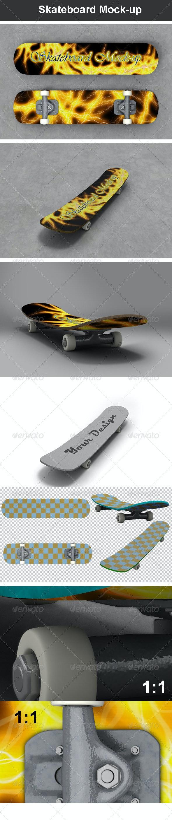 Skateboard Mock-up - Miscellaneous Product Mock-Ups