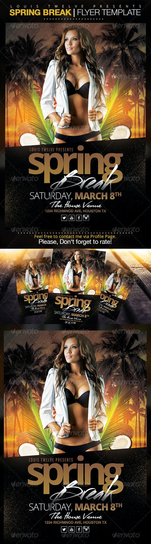 Spring Break / Summer Party  | Flyer Template - Clubs & Parties Events