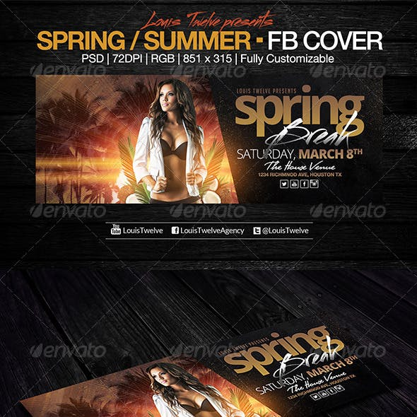 Spring Break / Summer Party | Facebook Cover