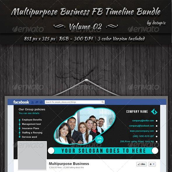 Multipurpose Business FB Timeline Bundle   Vol 2