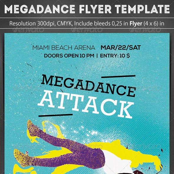 Megadance Flyer Template