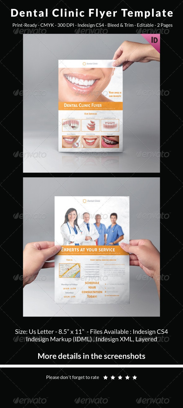 Dental Clinic Flyer Template - Commerce Flyers
