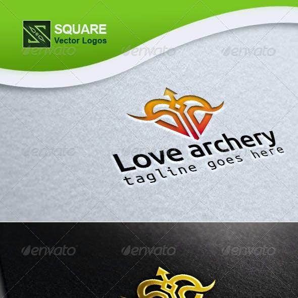 Love, Archery Vector Logo Template