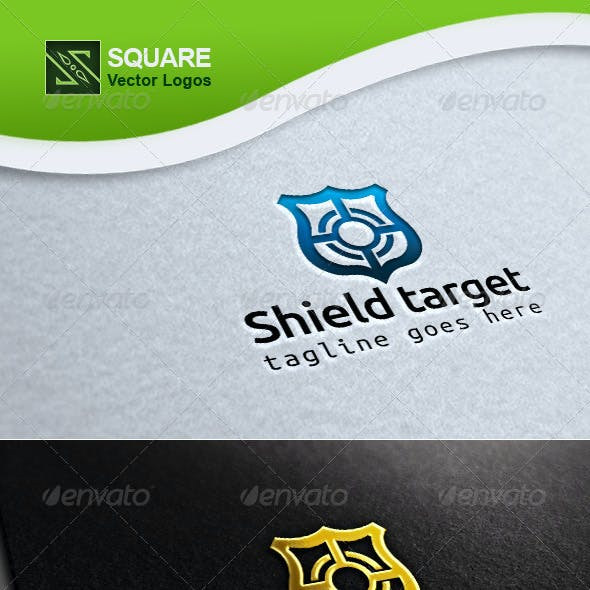 Shield, Target Vector Logo Template