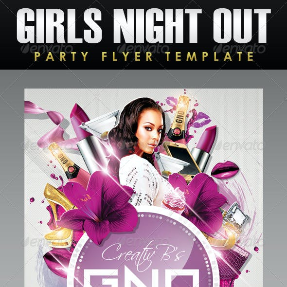 GNO - Girls Night Out Party Flyer Template
