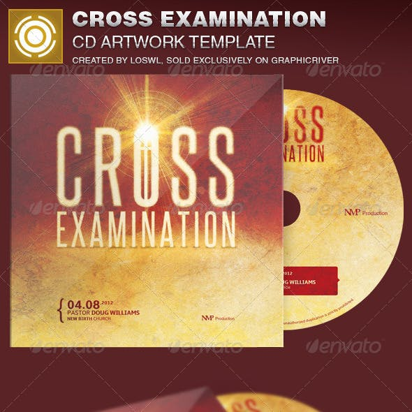 Cross Examination CD Artwork Template