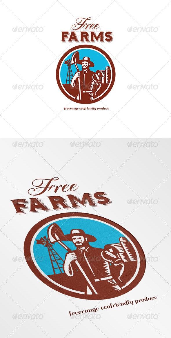 Free Farms Freerange Ecofriendly Produce Logo
