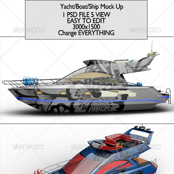 Yacht/Boat/Ship Mock Up