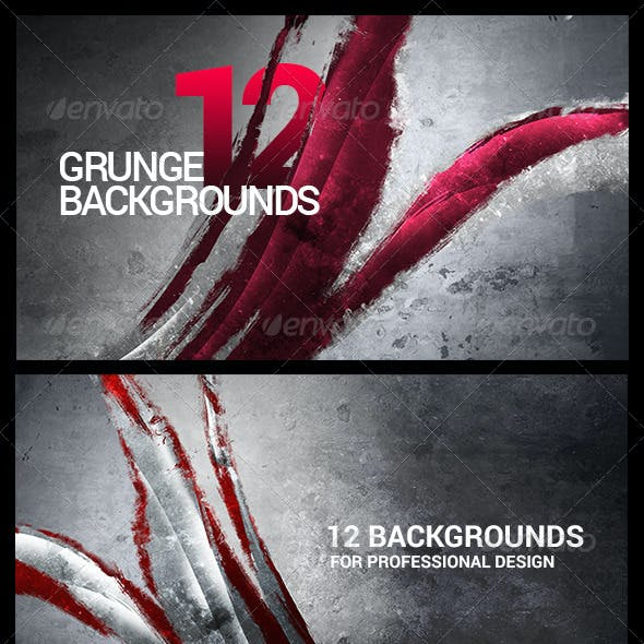 12 Painted/Urban/Abstract/Grunge Backgrounds