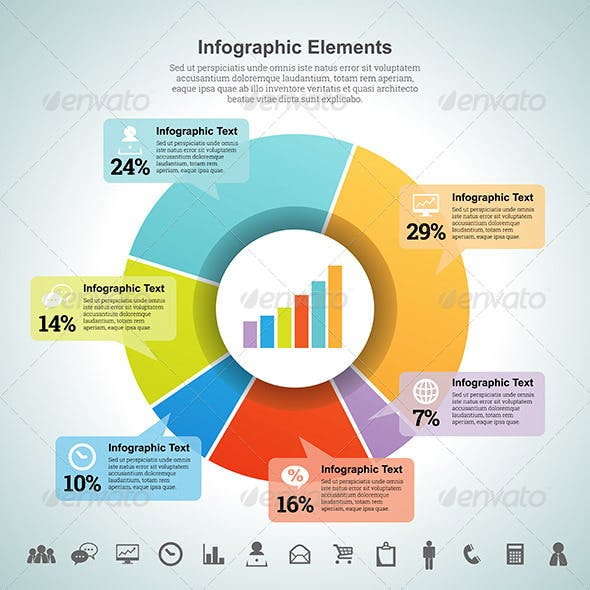 Pie Percentage Infographic Element