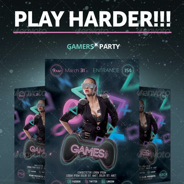 Games Party Flyer