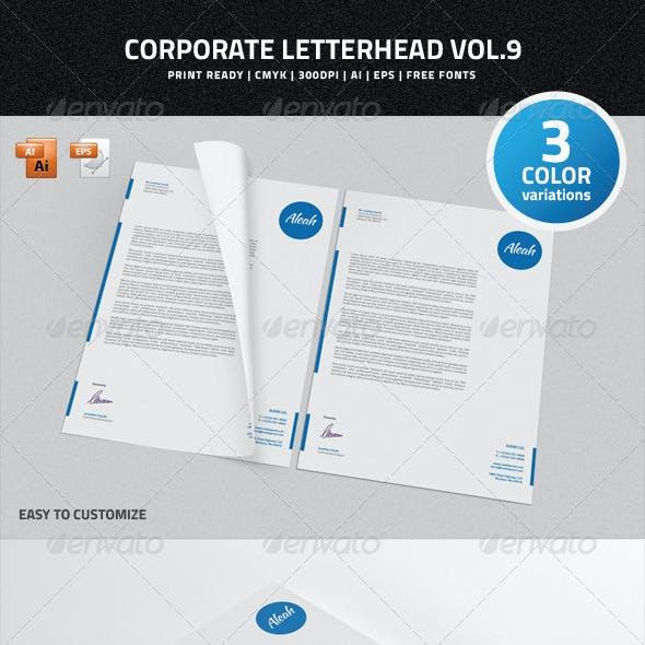Corporate Letterhead vol.9