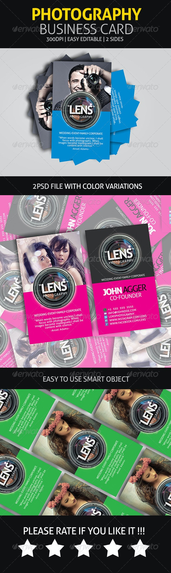 Photography - Business Card - Industry Specific Business Cards