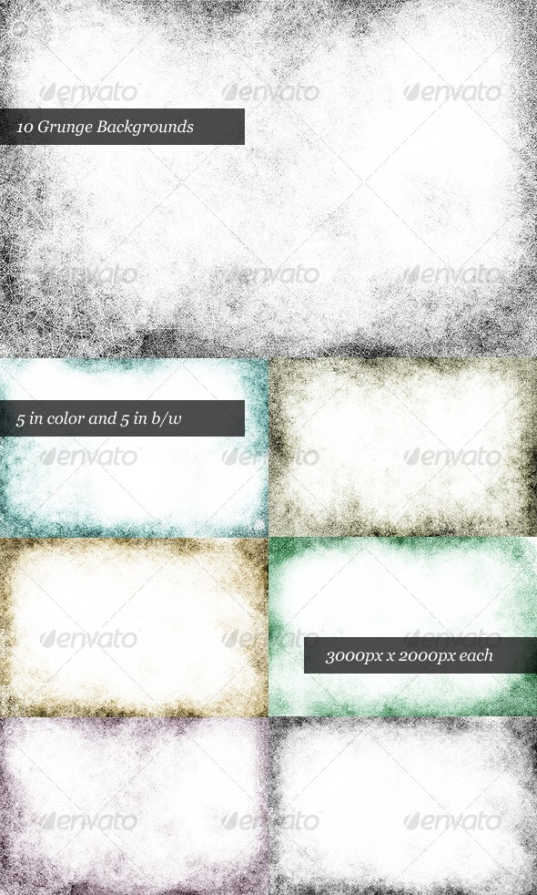 Dirty Grunge Background Pack (10 Backgrounds) - Urban Backgrounds