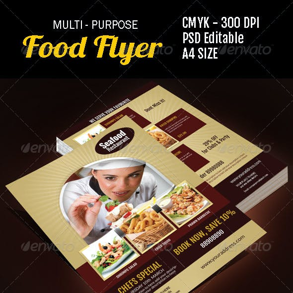 Multi Purpose Food Flyer