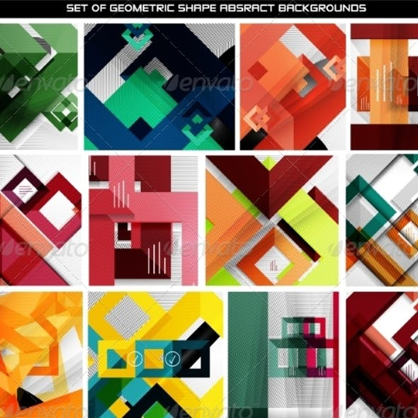 Collection of Geometric Abstract Backgrounds