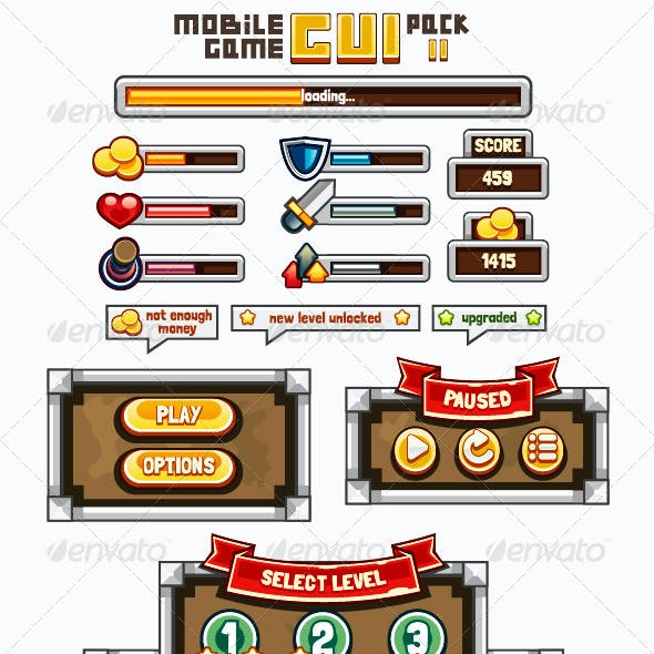 Mobile Game GUI Pack 2