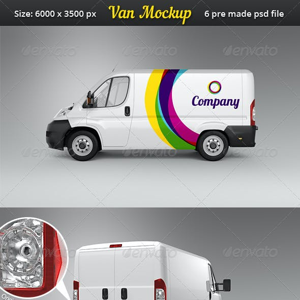Van Car Mock-Up