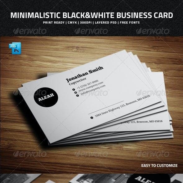 Minimalistic Black&White Business Card - 32