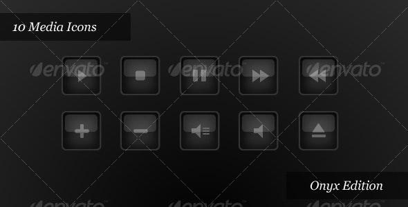 Media Player Icons   Onyx Edition - Web Icons