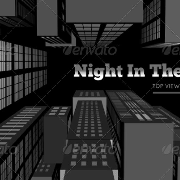 Night in the City Top View