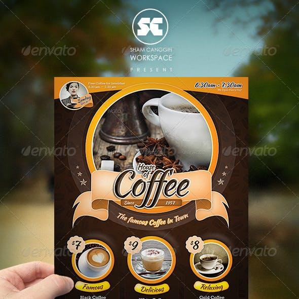 Modern Coffee House Flyer / Magazine Ads