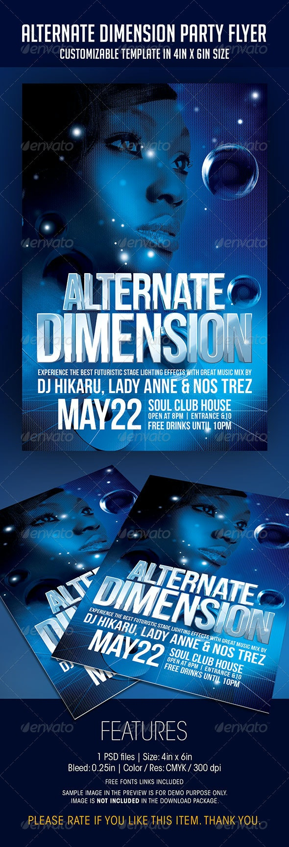 Alternate Dimension Party Flyer - Clubs & Parties Events