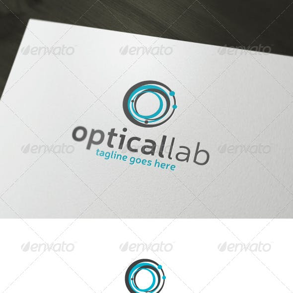 Optical Lab Logo — Letter O
