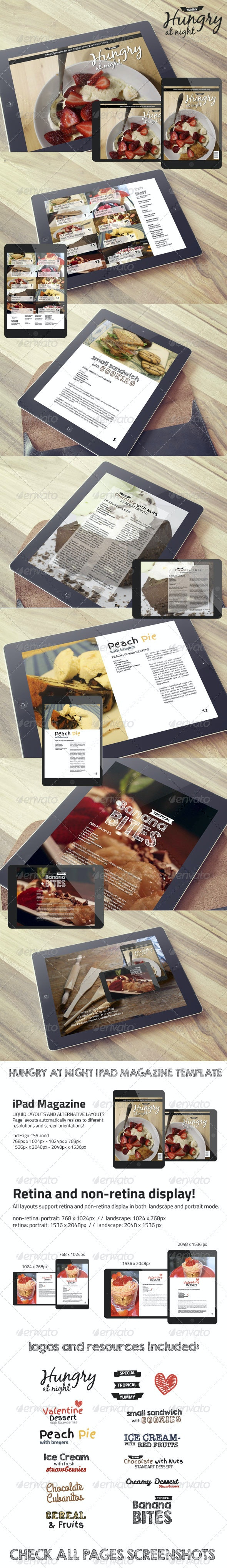 Hungry At Night iPad Magazine Template  - Digital Magazines ePublishing