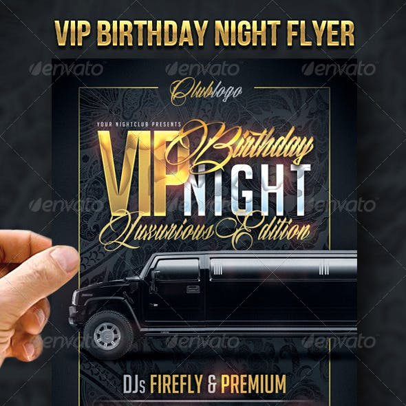 VIP Birthday Night Flyer