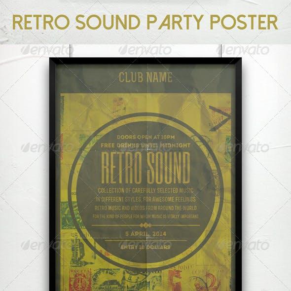 Retro Sound Party Poster