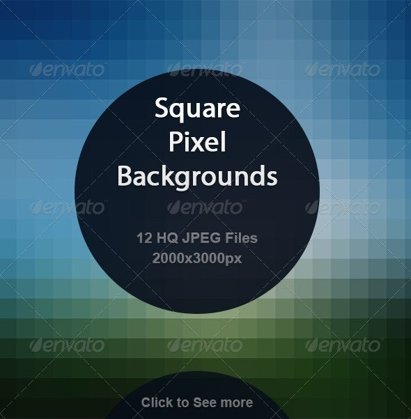 Square Pixel Backgrounds  - Abstract Backgrounds