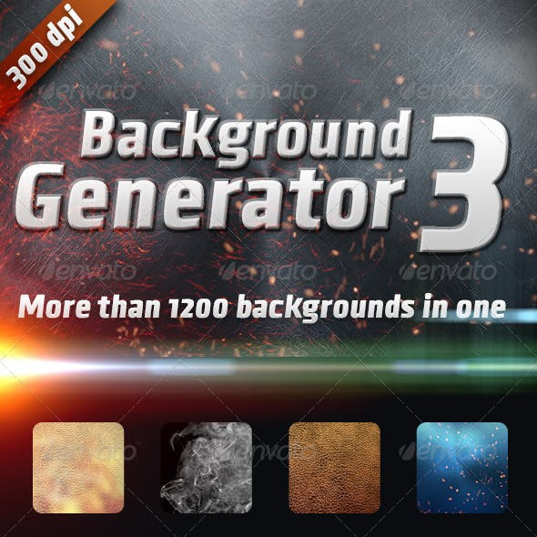 Background Generator 3:1200 Backgrounds in 1