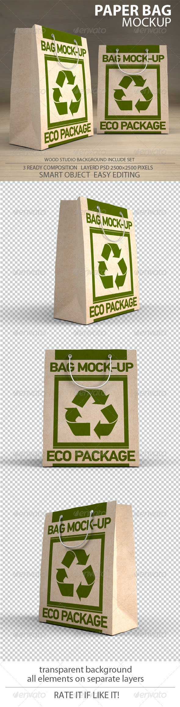 Paper Bag Mockup pack - Packaging Product Mock-Ups