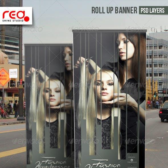Hairdresser Salon Promotion Roll-up Banner